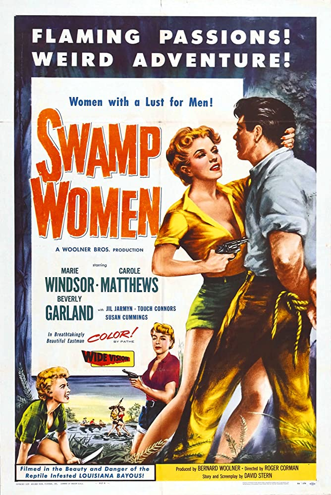 Mike Connors Carole Mathews Beverly Garland and Marie Windsor in Swamp Women 1956