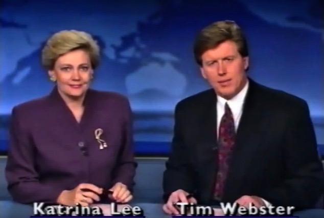 Tim Webster and Katrina Lee in Ten Eyewitness News: Sydney (1973)