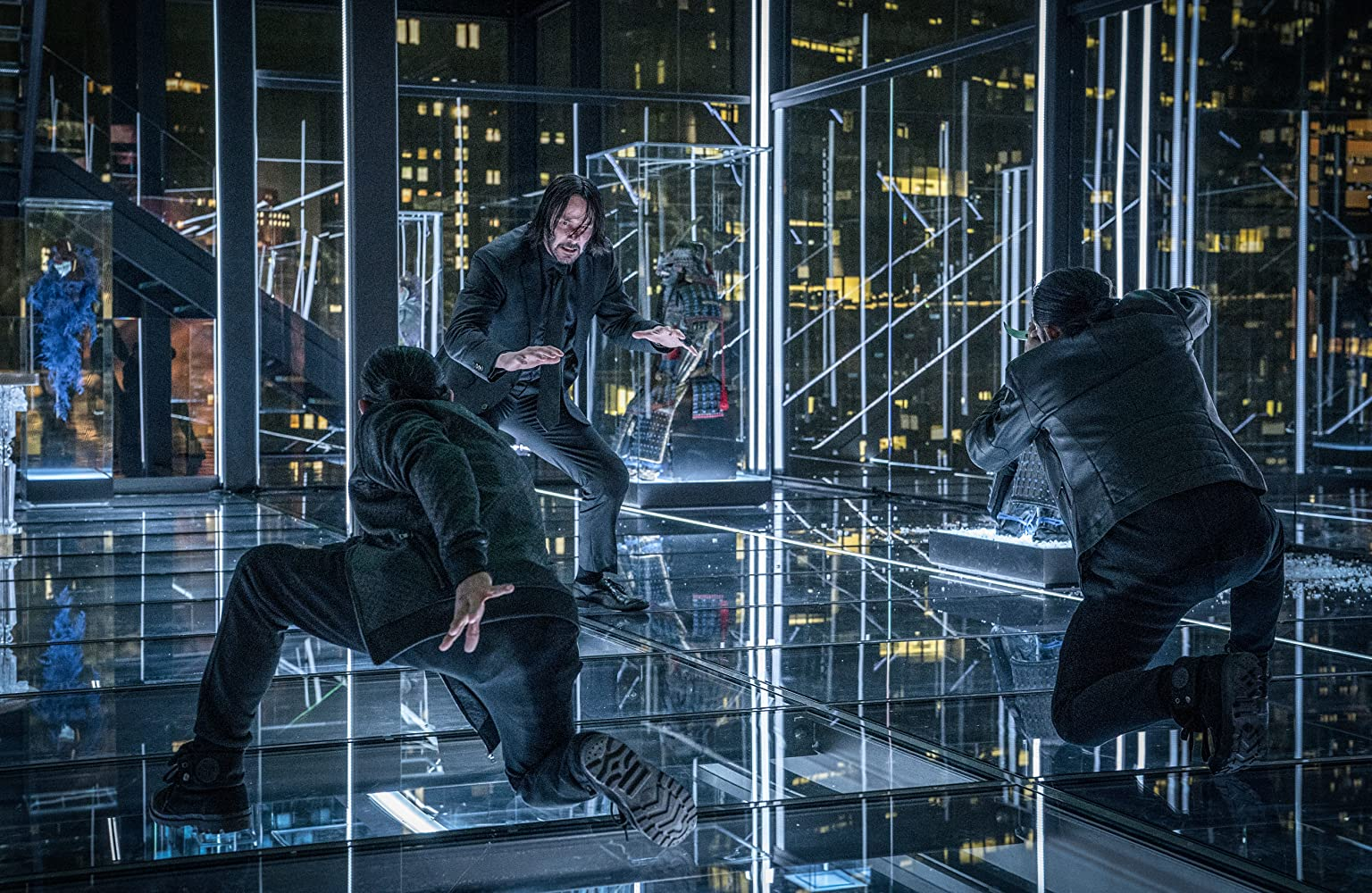 Keanu Reeves, Yayan Ruhian, and Cecep Arif Rahman in John Wick: Chapter 3 - Parabellum (2019)