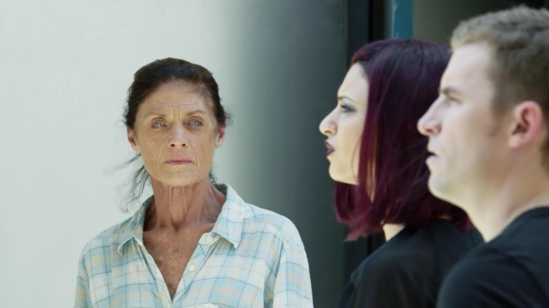 Meg Foster, Patrick Flanagan, and Stephanie Hernandez in 'Investigation 13'