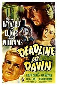 Susan Hayward, Joseph Calleia, Paul Lukas, and Bill Williams in Deadline at Dawn (1946)