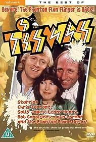 Sally James, John Gorman, and Chris Tarrant in Tiswas (1974)