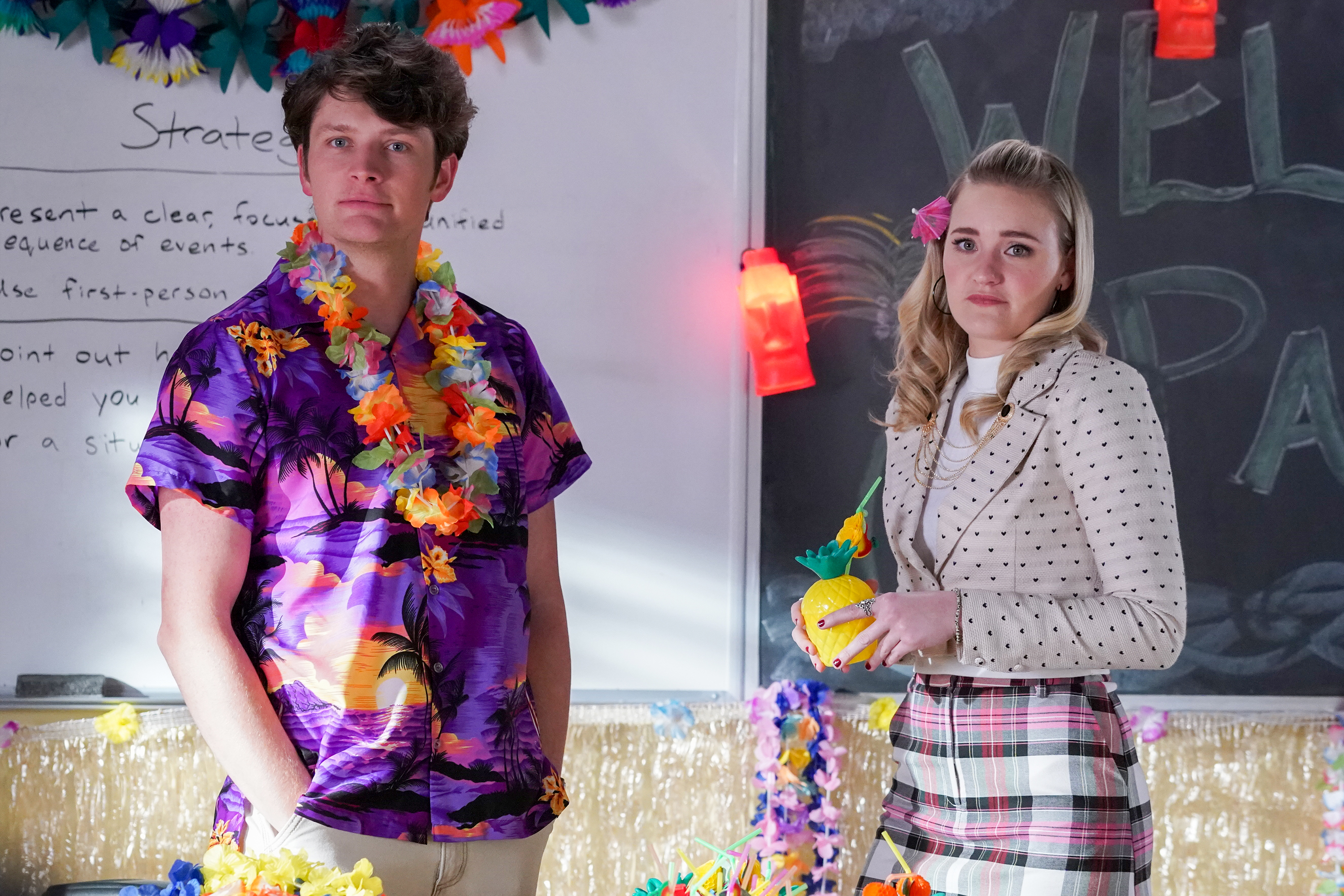 AJ Michalka and Brett Dier in Garden Party (2020)