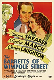 Charles Laughton, Fredric March, and Norma Shearer in The Barretts of Wimpole Street (1934)