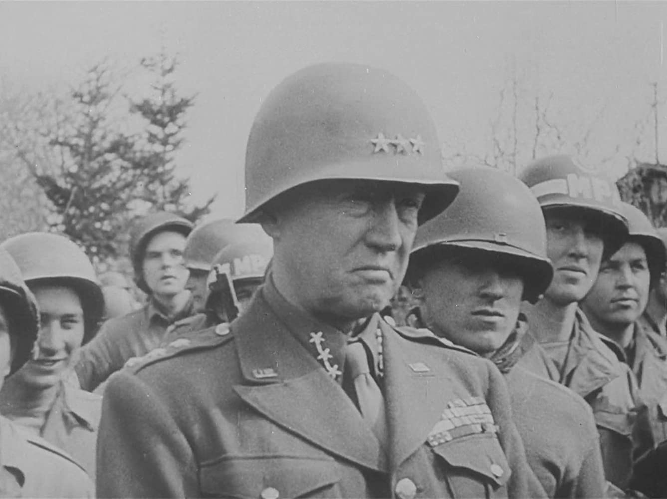 George S. Patton in Nazi Concentration Camps (1945)