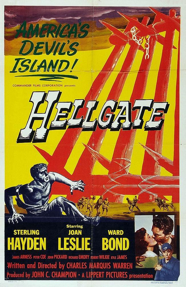 Sterling Hayden and Joan Leslie in Hellgate (1952)