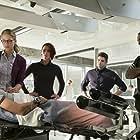 David Harewood, Chyler Leigh, Melissa Benoist, Jeremy Jordan, and Chris Wood in Supergirl (2015)