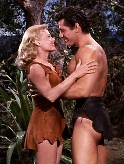 Eve Brent and Gordon Scott in Tarzan's Fight for Life (1958)