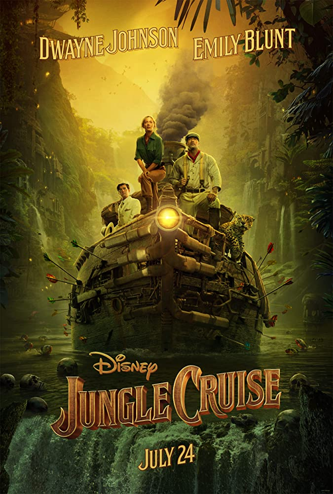 Dwayne Johnson, Emily Blunt, and Jack Whitehall in Jungle Cruise (2020)