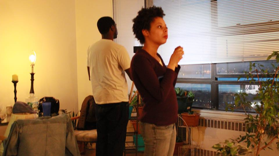 Kenya Wilson and Keef Louda in The Reversal (2013)