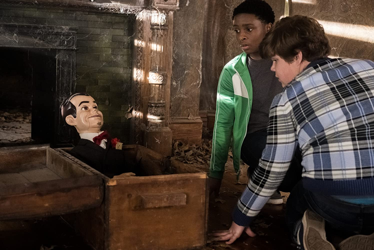 Mick Wingert, Caleel Harris, and Jeremy Ray Taylor in Goosebumps 2: Haunted Halloween (2018)