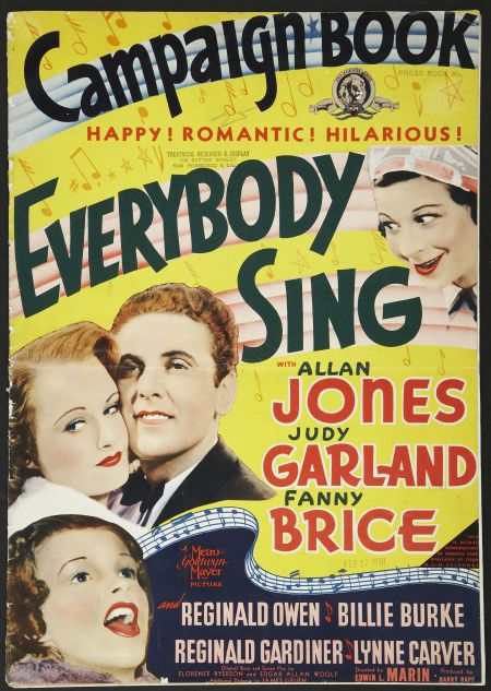 Judy Garland, Fanny Brice, Lynne Carver, and Allan Jones in Everybody Sing (1938)