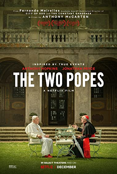 Poster of The Two Popes 2019 Full Hindi Dual Audio Movie Download HDRip 720p