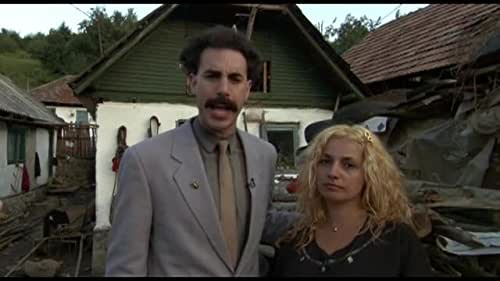 Kazakh TV talking head Borat is dispatched to the United States to report on the greatest country in the world. With a documentary crew in tow, Borat becomes more interested in locating and marrying Pamela Anderson.