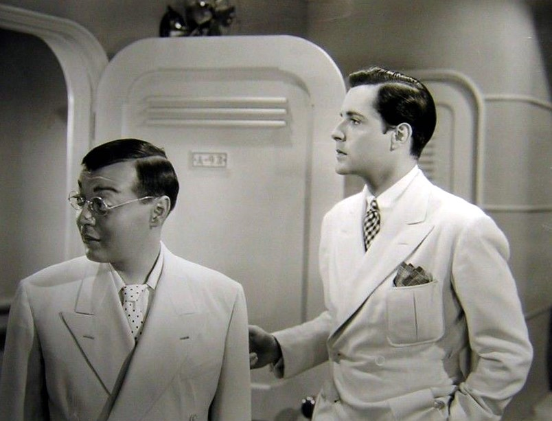 Peter Lorre and Thomas Beck in Think Fast, Mr. Moto (1937)