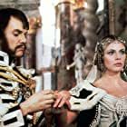 Malcolm McDowell and Britt Ekland in Royal Flash (1975)