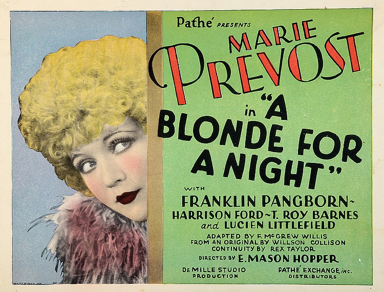 Marie Prevost in A Blonde for a Night (1928)