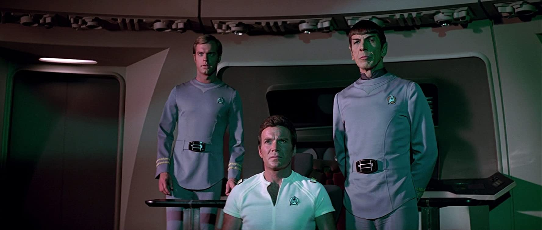 Leonard Nimoy, William Shatner, and Stephen Collins in Star Trek: The Motion Picture (1979)
