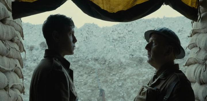 Adrian Scarborough and George MacKay in 1917 (2019)