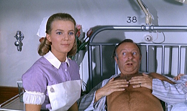 Suzan Farmer and Arthur Haynes in Doctor in Clover (1966)
