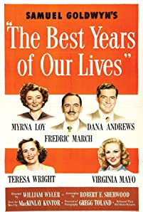 Dana Andrews, Myrna Loy, Fredric March, Virginia Mayo, and Teresa Wright in The Best Years of Our Lives (1946)