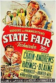 Dana Andrews, Jeanne Crain, Fay Bainter, Vivian Blaine, Dick Haymes, and Charles Winninger in State Fair (1945)