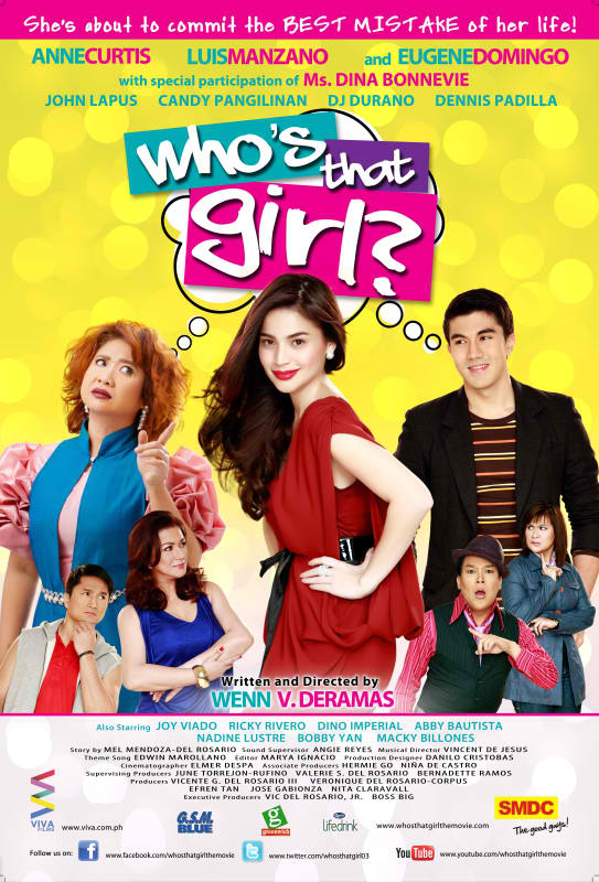 Anne Curtis, Eugene Domingo, and Luis Manzano in Who's That Girl? (2011)