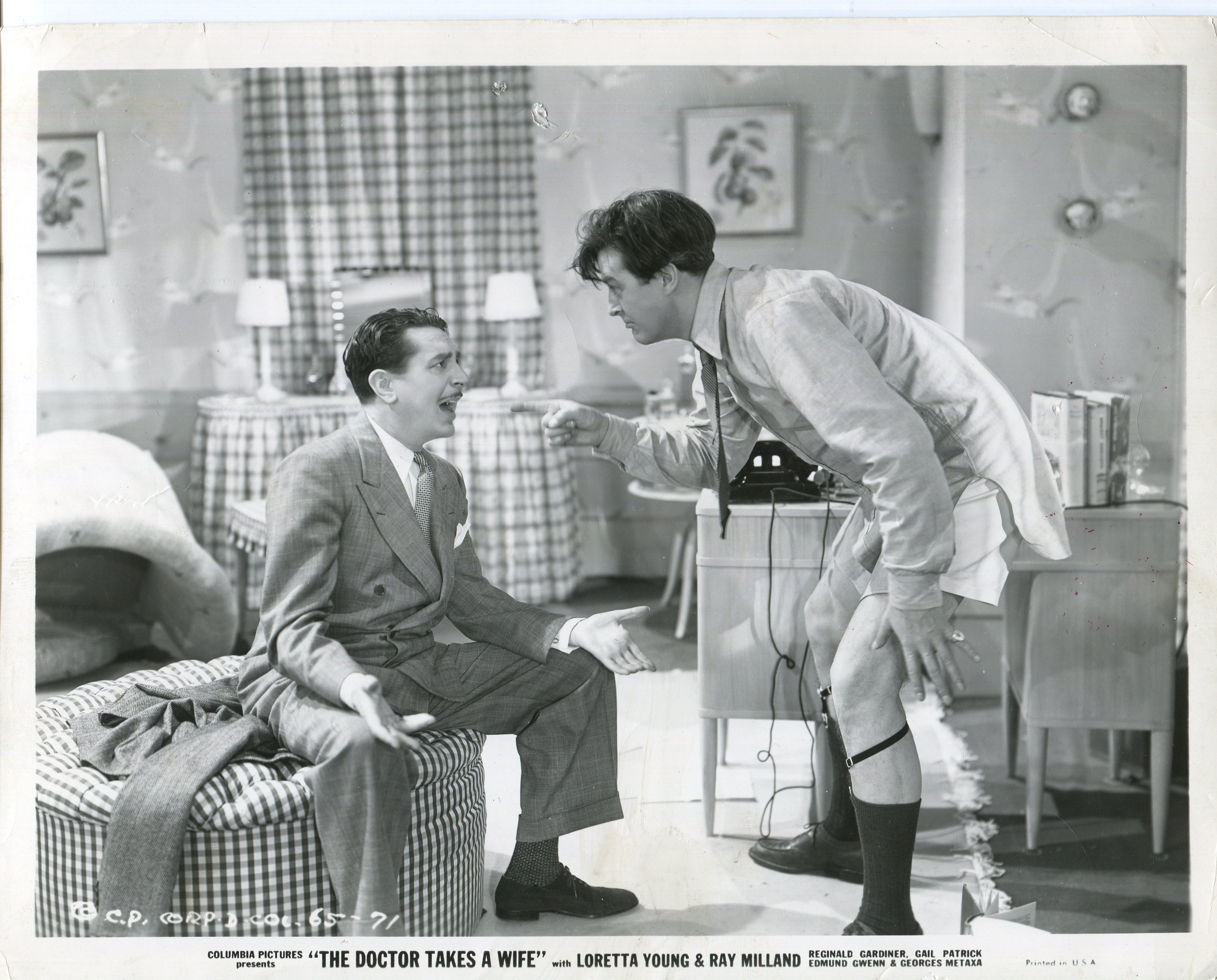 Ray Milland and Reginald Gardiner in The Doctor Takes a Wife (1940)