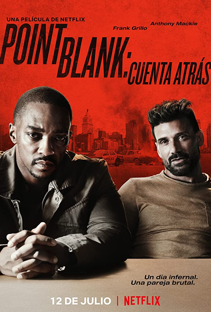 Marcia Gay Harden, Christian Cooke, Frank Grillo, Anthony Mackie, Adam G. Simon, and Teyonah Parris in Point Blank (2019)