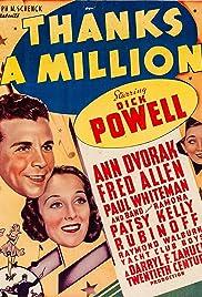 Thanks a Million(1935) Poster - Movie Forum, Cast, Reviews