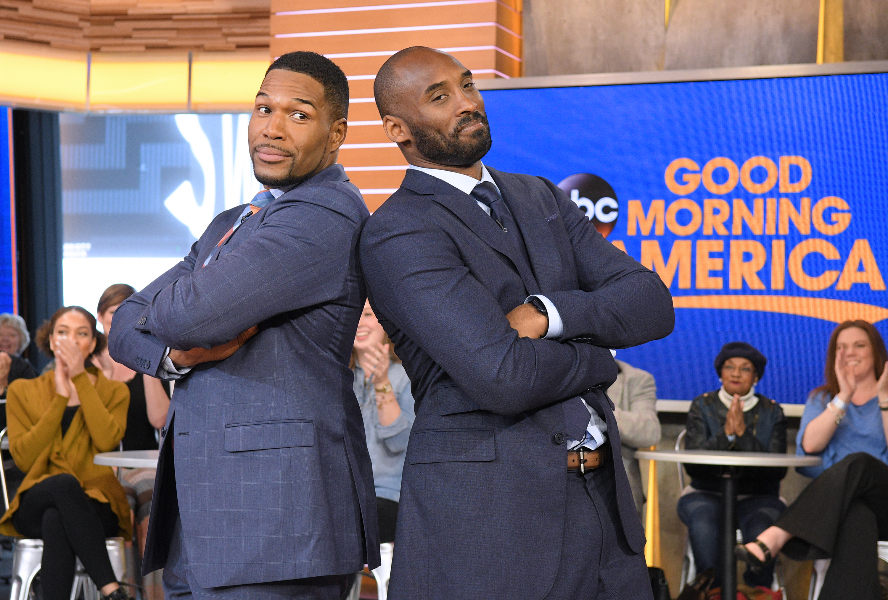 Kobe Bryant and Michael Strahan at an event for Good Morning America (1975)
