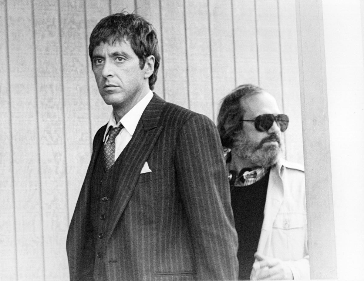 Al Pacino and Brian De Palma in Scarface (1983)
