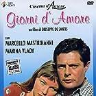 Marcello Mastroianni and Marina Vlady in Giorni d'amore (1954)