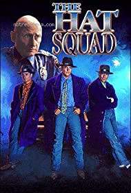 Don Michael Paul, Nestor Serrano, James Tolkan, and Billy Warlock in The Hat Squad (1992)