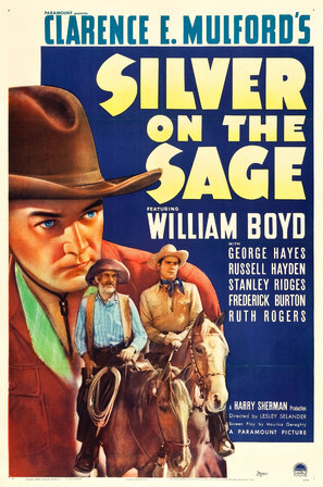 William Boyd, Russell Hayden, and George 'Gabby' Hayes in Silver on the Sage (1939)
