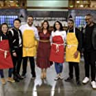 Basil J. Maqbool, Gregory Gourdet, Shirley Chung, Melissa King, and Kwame Onwuachi in Top Chef Amateurs (2021)