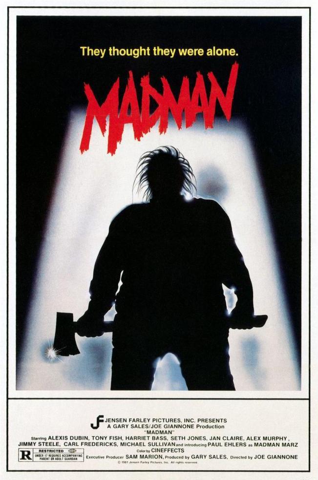 Harriet Bass, Tom Candela, Jan Claire, Paul Ehlers, Tony Fish, Seth Jones, Alexander Murphy Jr., and Frederick Neumann in Madman (1981)