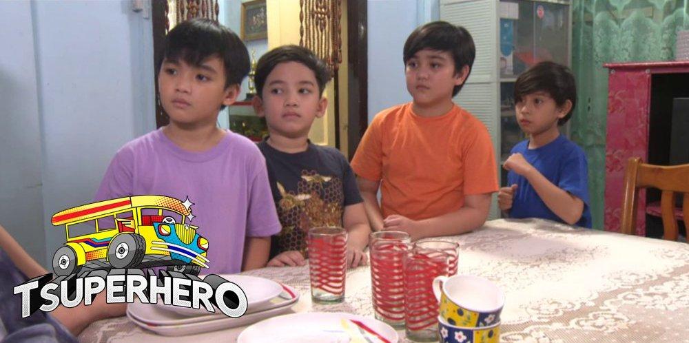 Charles Jacob Briz, David Remo, Lexter Capili, and Symon De Leña in Tsuperhero (2016)