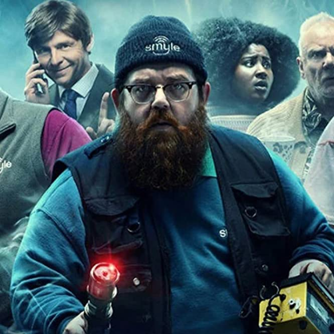 Malcolm McDowell, Nick Frost, Simon Pegg, Susan Wokoma, Samson Kayo, and Emma D'Arcy in Truth Seekers (2020)