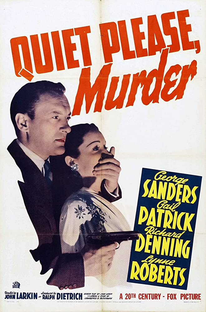 George Sanders and Gail Patrick in Quiet Please: Murder (1942)