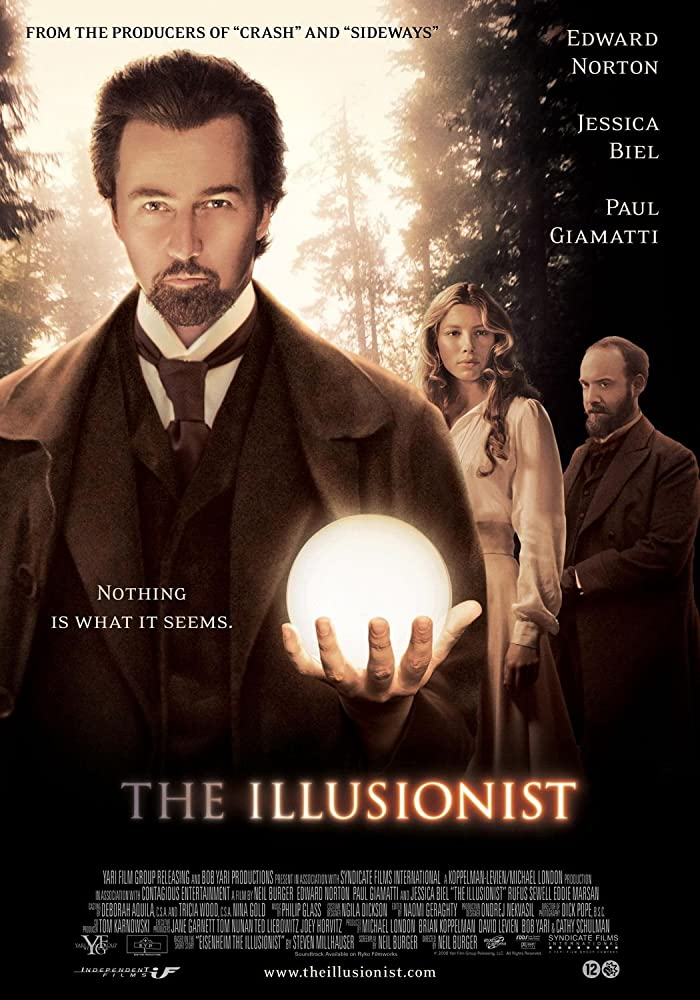 Edward Norton, Jessica Biel, and Paul Giamatti in The Illusionist (2006)