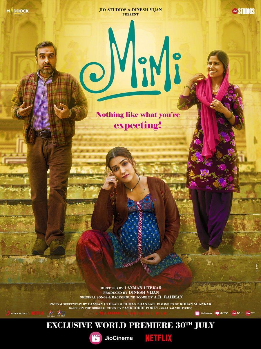 Mimi 2021 Hindi Full Movie 480p HDRip ESubs 320MB Download
