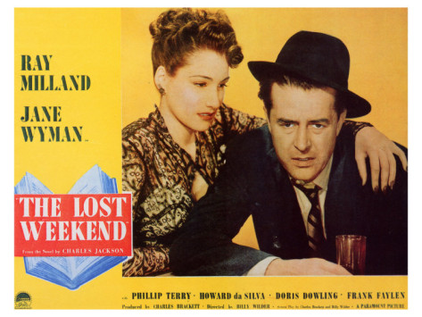 Ray Milland and Doris Dowling in The Lost Weekend (1945)