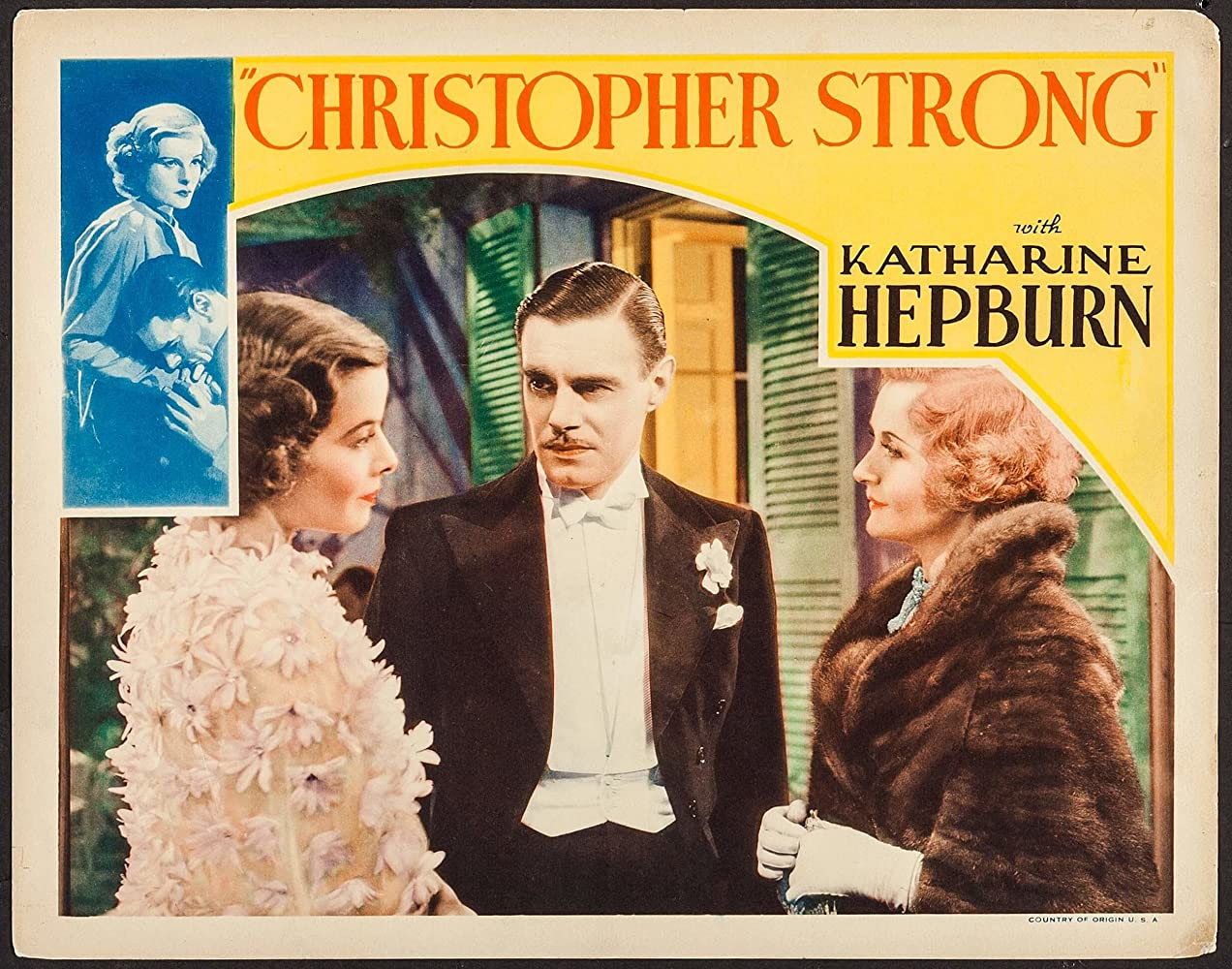 Katharine Hepburn, Billie Burke, and Colin Clive in Christopher Strong (1933)