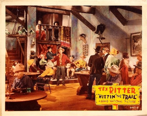 Ken Card, Tex Ritter, Ray Whitley, The Phelps Brothers, The Range Ramblers, and Harley Luse in Hittin' the Trail (1937)