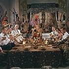 Frits Helmuth, Helge Kjærulff-Schmidt, Ebbe Langberg, Johannes Meyer, Dirch Passer, Ove Sprogøe, Karl Stegger, Tove Wisborg, and Clara Østø in Styrmand Karlsen (1958)