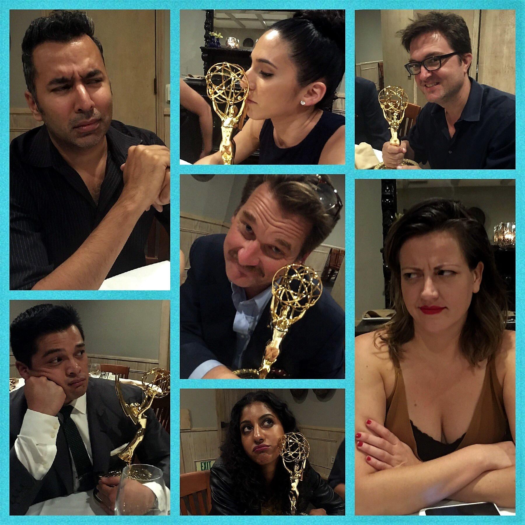 Pete Gardner, Kabir Akhtar, Paul Hewitt, Kathryn Burns, Vincent Rodriguez III, Gabrielle Ruiz, and Vella Lovell