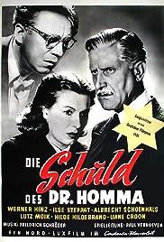 Die Schuld des Dr. Homma Poster