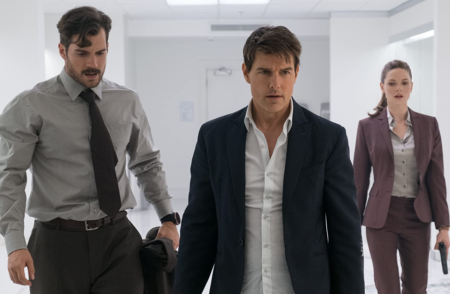 Tom Cruise, Henry Cavill, and Rebecca Ferguson in Mission: Impossible - Fallout (2018)