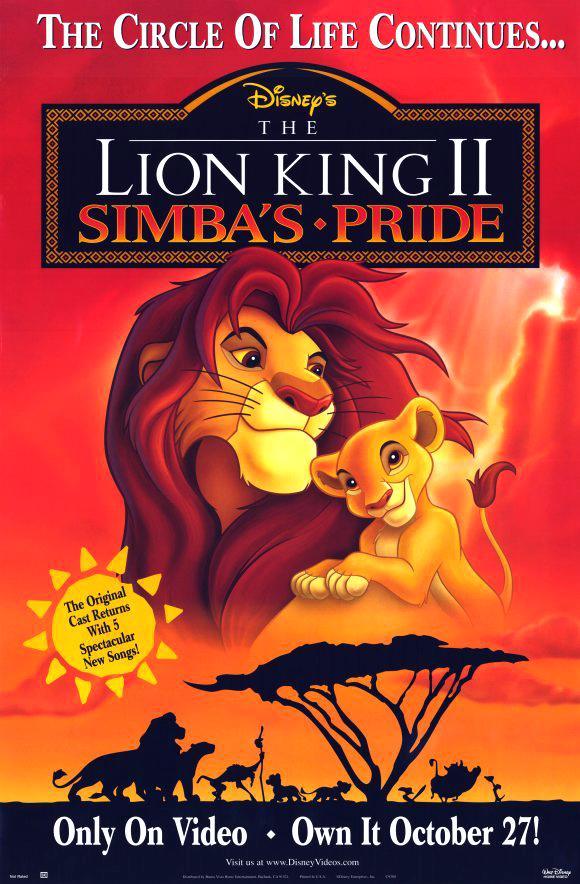 O Rei Leão II: O Reino de Simba (1998) Dual Áudio | Dublado DVD-R Oficial Uptobox Download